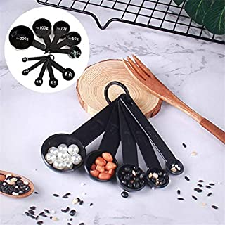 Kitchen Accessories Cooking 5/10Pcs Black Plastic Measuring Spoon and Measuring Cups Kitchen Gadgets Tools Baking Accessories