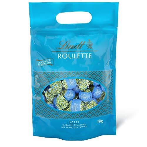 Lindt ROULETTE Beutel Vollmilch-Cerealien, Vollmilch-Schokolade mit cremiger Schokoladenfüllung und knusprigen Cerealien, Geschenk, Großpackung, 1kg