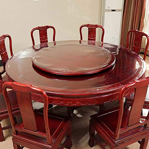 XHNXHN Mantel redondo de PVC transparente, impermeable, resistente al aceite, para mesa de comedor, mesa de café (110 cm redonda)
