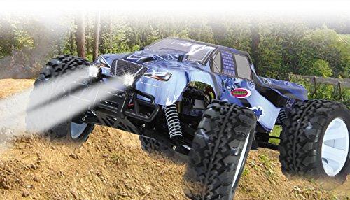 RC Auto kaufen Monstertruck Bild 2: Jamara Tiger Ice Monstertruck 1:10 4WD NiMh 2,4G LED - Allrad, Elektroantrieb, Akku, 35Kmh, Aluchassis, spritzwasserfest, Öldruckstoßdämpfer, Kugellager, Fahrwerk einstellbar, fahrfertig*