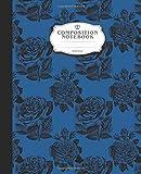 Graph Paper Notebook: Blue Roses Notebooks for Girls Women Man Teens Kids School Teacher Counting Notes Journal