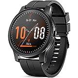 Reloj Inteligente para Hombres Y Mujeres,Monitor De Frecuencia Cardíaca Inteligente,Control De La Presión Arterial,Reloj Inteligente A Prueba De Agua IP67,Adecuado para Android iOS