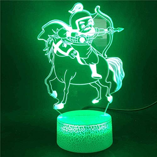 Lámpara de ilusión 3D LED, lámpara de ilusión de dragón bola Tereo Light Creat lámpara de escritorio 7 luces cambiantes de colores ambiente dormitorio luz como regalo para niños N13-N10