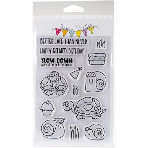"""Jane's Doodles Belated Birthday Clear Stamps, 4"""" x 6"""""""