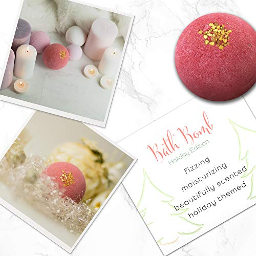 Bath Bomb Gift Idea - Large Bathbomb Stocking Stuffer Best Holiday Presents for Her Him Women Men Kids Mom Dad Couple Wife Bubble Bathbombs with Essential Oils (4 Pack)