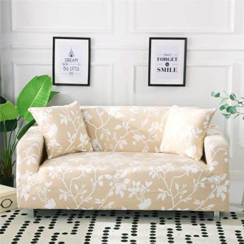TAYIBO extraíble Cubierta de sofá,Funda de sofá de Estilo nórdico, algodón elástico, Individual/Dos/Tres/Cuatro plazas-L_2-plazas_145-185cm