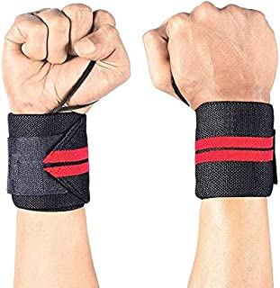 FEGSY Wrist Wraps for Weightlifting, Powerlifting, Gym, and Crossfit - Wrist Support Band for Men and Women - Pair