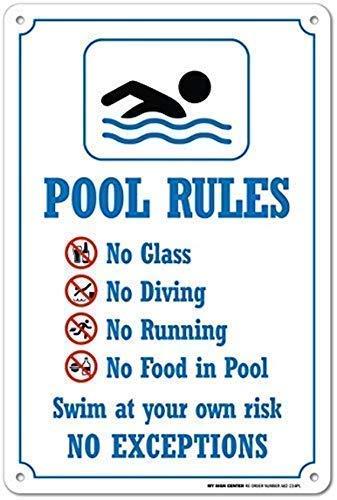 Schild Pool Rules