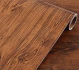 UPREDO Brown Oak Wood Grain Wallpaper Adhesive Vinyl Shelf Liner Paper Funitures Dresser Drawer Cabinet Sticker Decal 15.8inch by 79inch