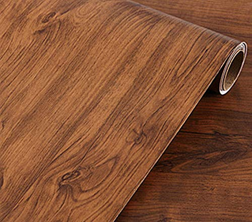 UPREDO Brown Oak Wood Grain Wallpaper Adhesive Vinyl Shelf Liner Paper Funitures Dresser Drawer Cabinet Sticker Decal 15.8inch by 79inch