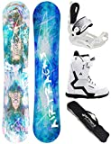 Airtracks Snowboard Set - Board Glam Lady 144 - ATTACCHI Master W - Softboots Savage W 37 - SB Bag