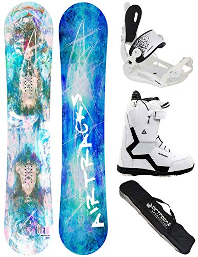 Airtracks Snowboard Set - Board Glam Lady 150 - Softbindung Master - Softboots Strong W QL 41 - SB Bag