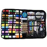 SJHP 226 Kits de Costura multifuncionales, Herramientas de Bordado de Hilo y Aguja de 43 Colores y Caja de Costura