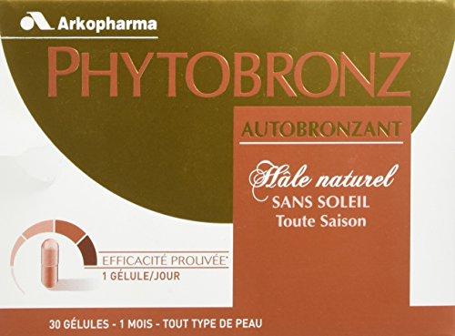 Arkopharma - Phytobronz - Cosmétique Orale Autobronzant - Hâle naturel sans soleil - Toute saison - Boîte de 30 Gélules