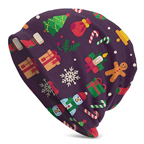 GgDupp Gorro de punto con diseño de símbolo de Navidad verde árbol vector de regalo para hombres y mujeres, unisex, suave con puño liso