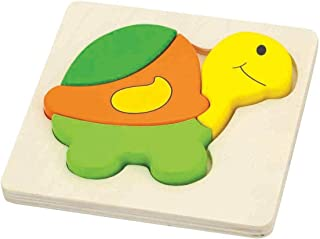 Shape Block Puzzle-Turtle-Wooden Educational Toys