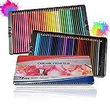 Powstro Lápices de Colores Profesionales, 72 pcs,Lapiz para Colorear de Dibujo y Bosquejo Material de Dibujo Set, Lápices de Colores Conjunto Ideal para Adultos y Niños, Colorear Libros, aulas y DIY.