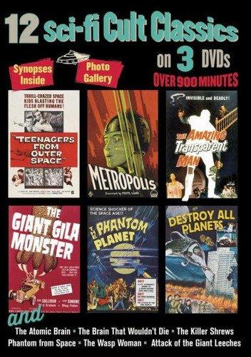 12 Sci-Fi Cult Classics on 3 DVDs