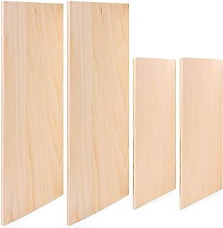 Tablero de tilo, 2 piezas A4 + 2 piezas A5 de madera contrachapada cuadrada adecuada para grabado láser, pirografía, router CNC y sierra de desplazamiento (5 mm de grosor)