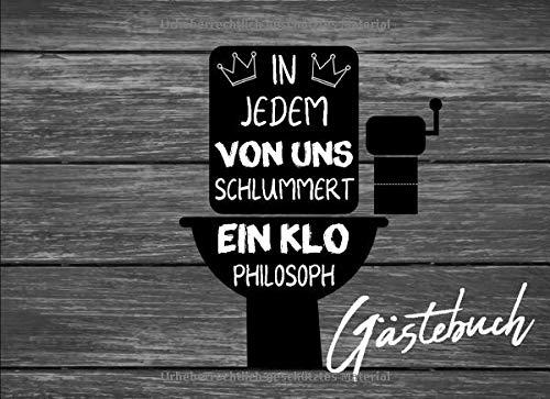 Klo Gästebuch: Holz Optik Toilettenbuch Lustig Einweihungsgeschenk Richtfest Einzug Ins Neue Haus...
