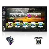 OiLiehu Doppel Din Android Autoradio Bluetooth, 7 Zoll HD Touchscreen 2+32G Auto Multimedia Player Mit WiFi / GPS / SWC / TF / USB / AUX-In / Mirror Link für Android IOS + Rückfahrkamera