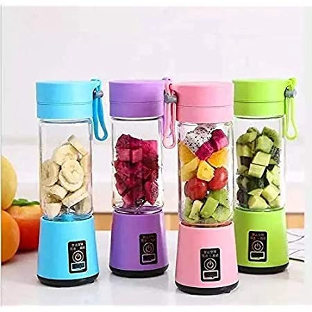 KBR® Portable Juicer Electric USB for travel Mini Small juices Fruit Mixer Machine Blender Grinder Home and Travel (Multi color)