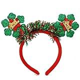 Christmas Headband for Women-Christmas Deer antler Headband Christmas Tree Headband Snowflake Headband Velvet Red green Hair Accessories for Girls Teen Kids (Velvet snowflake/green)