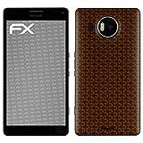 atFolix Skin kompatibel mit Microsoft Lumia 950 XL, Designfolie Sticker (FX-Honeycomb-Brown), Waben-Struktur/Honigwabe