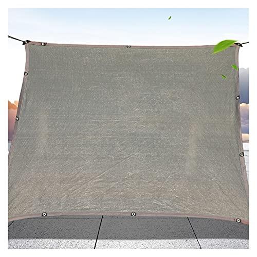 Skuggnät Markis Utomhus Trädgård Växtskydd Växthusöverdrag Skuggnät Simbassäng Solskyddsduk Grå Anti-UV AWSAD (Color : Gray, Size : 1x2m)