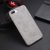 Plush Fabrics Phone Case For Apple iPhone X 8 7 6s 6 Plus Warm Plush Fashion Soft Color Back Cover Cases Capa Fundas - (Color: Light Gray, Material: For iPhone 8 Plus) -  OTADO