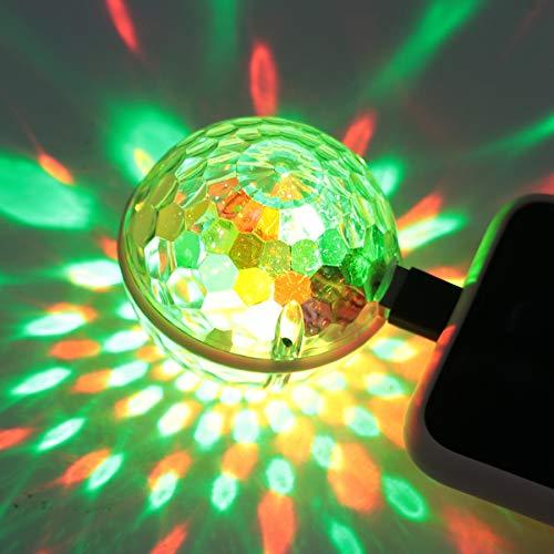 OSALADI LED USB Disco Licht LED Auto Party Lichter Discokugel Bühne Licht Bunte Dekorative Atmosphäre Licht Party Licht Bühne Lampe für Ktv Stage Bar nach Hause (Verschiedene Farben)