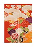 LIGICKY Japanese Style Doorway Curtain Noren Cotton Linen Retro Flowers Printed Window Treatment Hanging Door Tapestry for Home Decoration 33.5' Width x 47.2' Long, Colourful