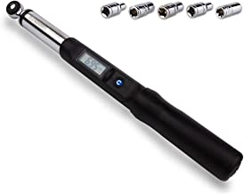 Summit Tools 1/4 inch Digital Torque Wrench, 1.11-22.12 ft-lbs Torque Range Accurate to ±3% with Socket Set, LCD Display, Calibrated (ES2-030CN)