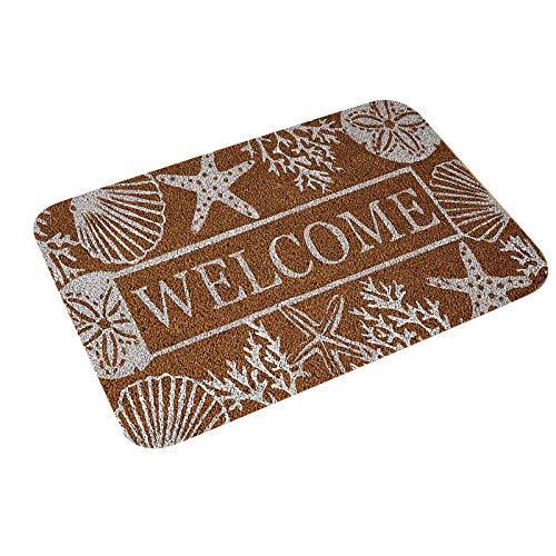Corlidea - Felpudo de la serie Welcome, 40 x 60 cm, impermeable, lavable, resistente a la suciedad, antideslizante, para puerta de casa, pasillo, entrada, cocina, dormitorio