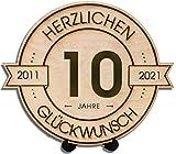 DARO Design - Holzscheibe graviert - 10 Jahre