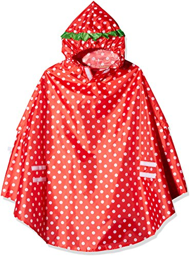 LUNARI Unisex– Erwachsene Lucky Cape Regenschutz, Rot, One Size