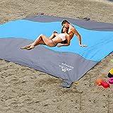 Sand Proof Beach Blanket, Large Sand Free Beach Mat Oversized...