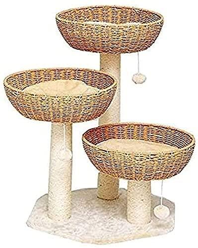 JZTOL Gatto Albero Condominio Graffiatura Post Cat Torre Torretta Multi-Strato Gatto Salto Piattaforma Grande Gatto Lettiera Gatto Albero Cat Rampicante Telaio Struttura Sisal
