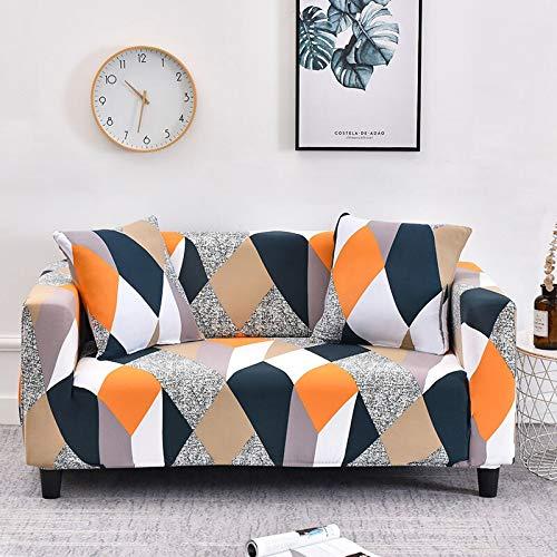 WXQY Funda de sofá Universal elástica geométrica para Sala de Estar, Funda de sofá Antideslizante elástica, Funda de sofá, Funda Protectora de Silla A23 de 3 plazas