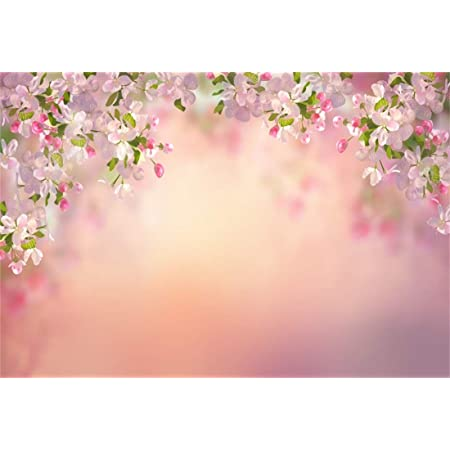 Yeele Flowers Blossom Backdrop 5x3ft Spring Bokeh Photography Background for Girls Birthday Photo Wedding Background Newborn Baby Portraits Bridal Shower Party Decoration Banner Photoshoot Props