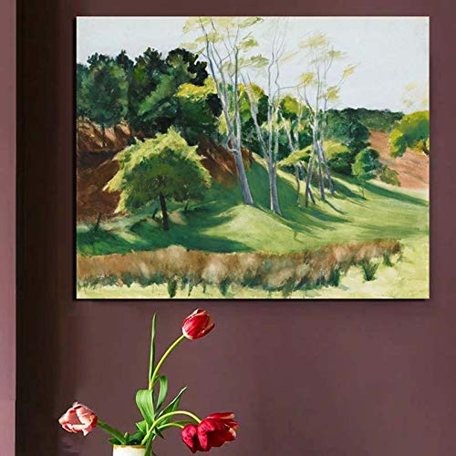 KWzEQ Landschaft Aquarellmalerei Ölgemälde Leinwanddruck Wohnzimmer Dekoration Moderne Hauptwandkunst Ölgemälde,Rahmenlose Malerei,70x90cm