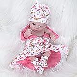 RUBAPOSM Reborn Baby Dolls, muñecas de Silicona Suave para recién Nacidos de 22 Pulgadas, Juego de Regalo de cumpleaños ponderado para niñas de 3 años en adelante