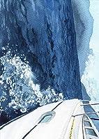 igsticker ポスター ウォールステッカー シール式ステッカー 飾り 420×594㎜ A2 写真 フォト 壁 インテリア おしゃれ 剥がせる wall sticker poster 015829 船 海 写真