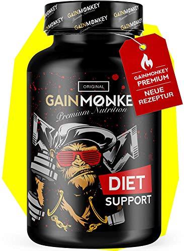 GAINMONKEY® Diet Support - Mit Acetyl-L-Carnitin, Grüntee Extrakt uvm. I Extrem beliebt bei Sportlern I Made in Germany