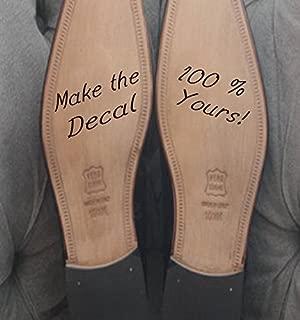 Custom Groom Shoe Decal (2x4) (Black)