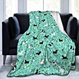LIVE & LOVE Microfleece Blanket Throw Blanket Goat Frolic Printed Ultra Soft Lightweight Cozy Warm Microfiber Fuzzy Blanket for Bed Couch Living Room All Seasons