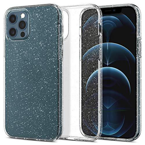 Spigen iPhone12 ケース iPhone12Pro ケース 6.1インチ MagSafe 対応 新型 TPUカバー ソフトケース キラキラ ラメ入り 傷防止 レンズ保護 薄型 軽量 ワイヤレス充電 アイフォン12 ケース アイフォン12プロケース リキッド・クリスタル (グリッター・クリスタル・クオーツ)