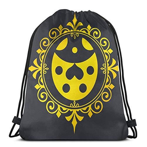Mochila De Cuerdas, Mujer Hombre Bolsas De Cuerdas, Impermeable Gimnasio Deporte Drawstring Backpack,Gym Bag Experiencia Dorada - Ladybug