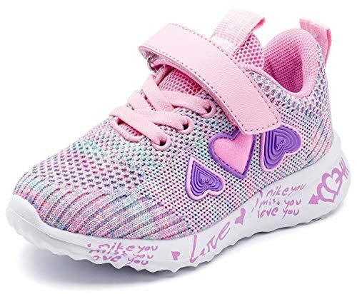GUBARUN Leichte Turnschuhe für Jungen und Mädchen, atmungsaktiv, athletische Laufschuhe, Pink (Rosa 0), 35 EU