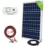 ECO-WORTHY Kit de sistema de panel solar de 10 vatios: 1 módulo solar de 10 W 12 V con controlador de carga de 3 A con cables de batería 12 voltios cargador de batería para RV Boat